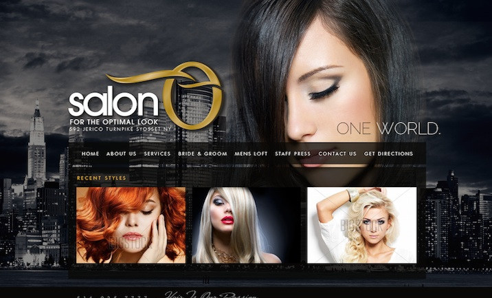 Salon O website