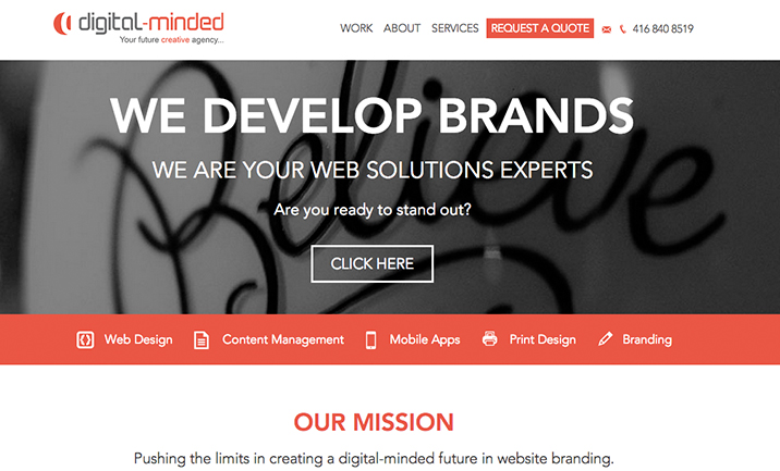 Digital-Minded  website