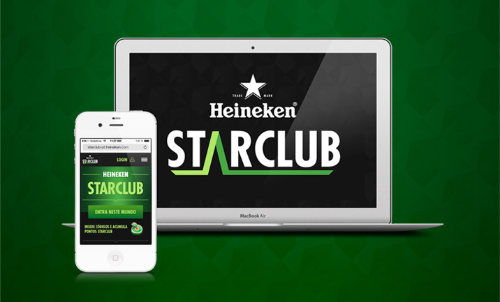 Heineken StarClub website