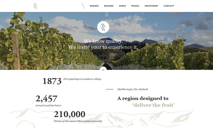 Marlborough Wines website