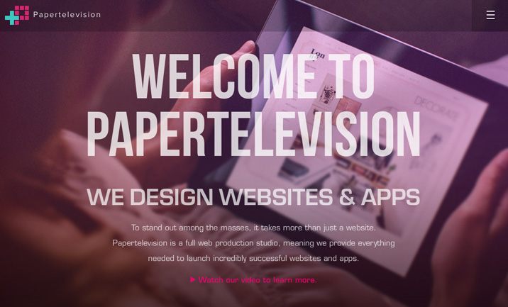 Papertelevision website