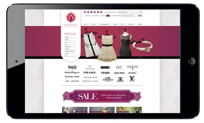 Second Story Boutique website