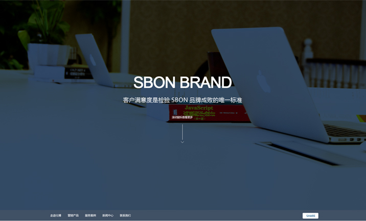 Sbon Brand Web Design website