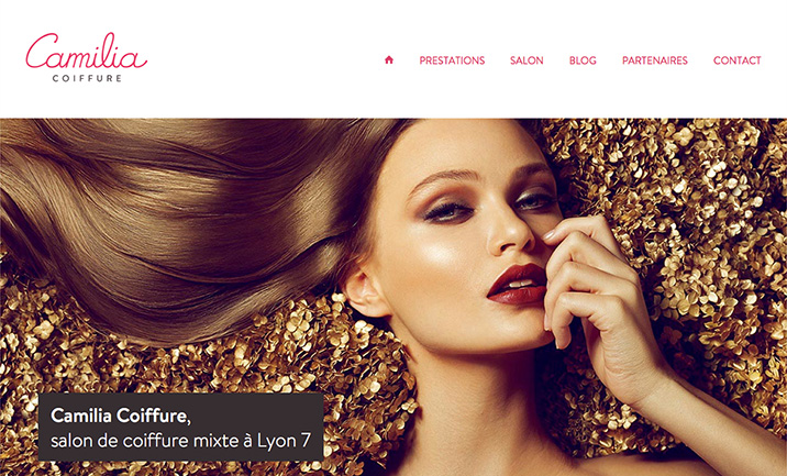 Camilia Coiffure website