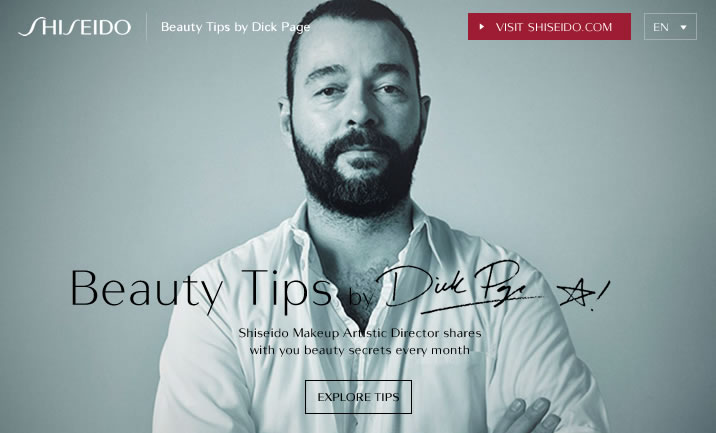 Shiseido Beauty Tips website