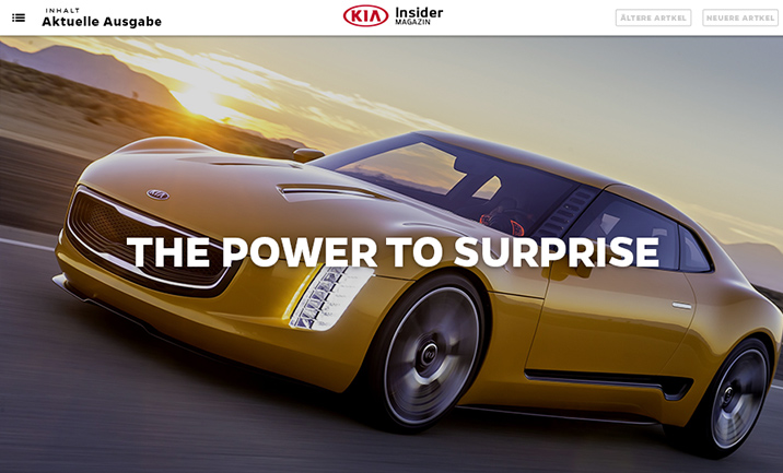 Kia Insider website
