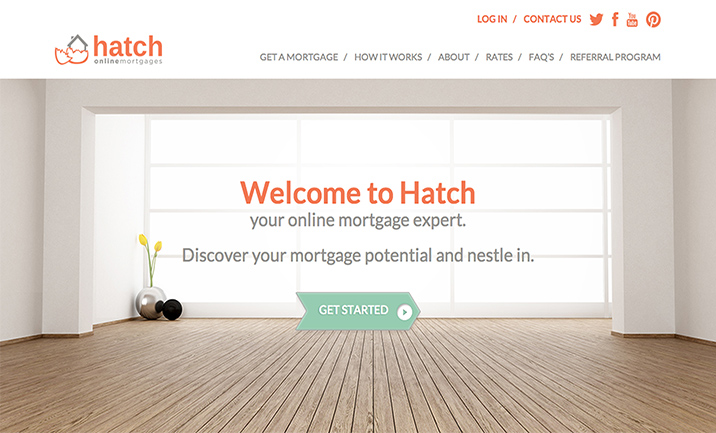 Hatch Online Mortgages website