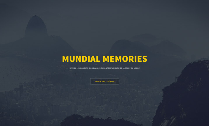 Mundial Memories website