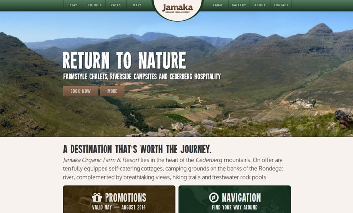 Jamaka Organic Farm website