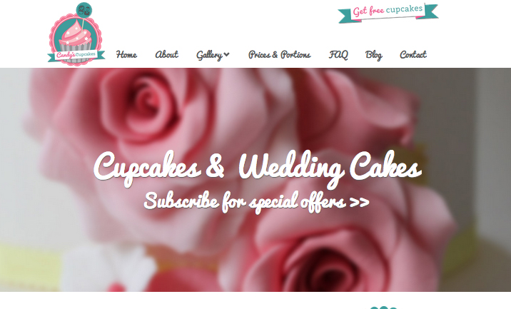 Candy's Cupcakes website