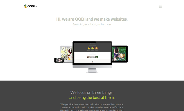 OODI Web Design website