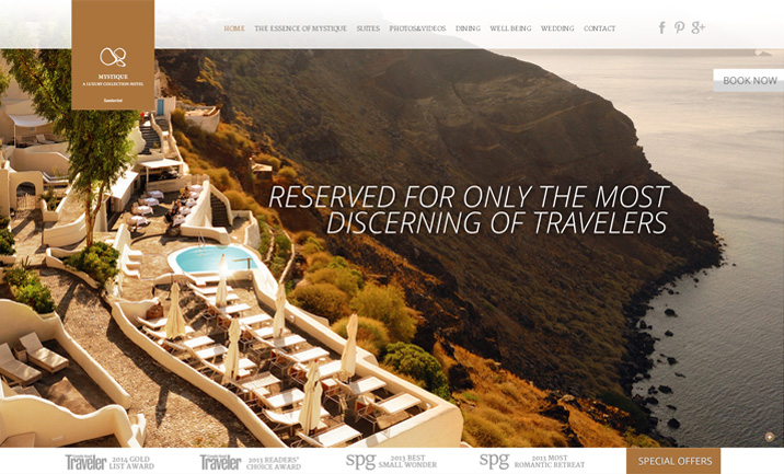 Mystique Hotel website
