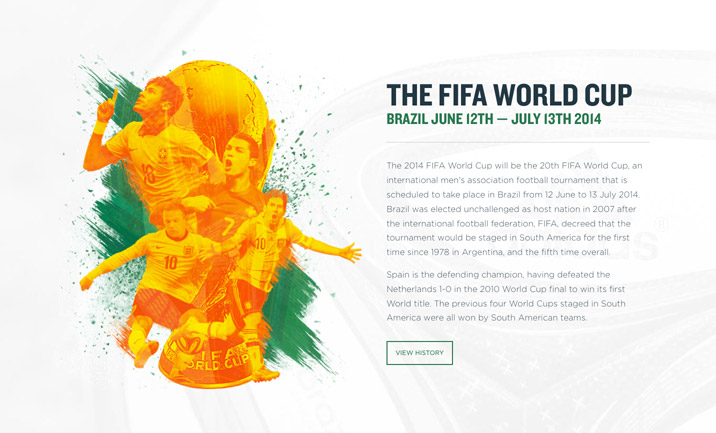 Sequence World Cup 2014 website