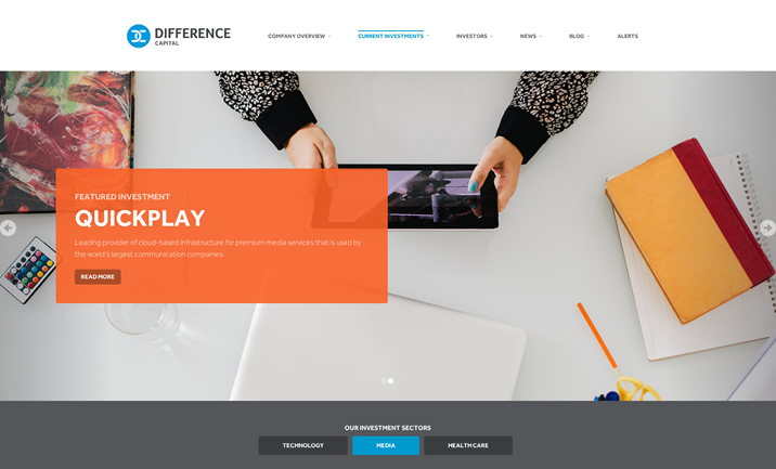 Difference Capital website