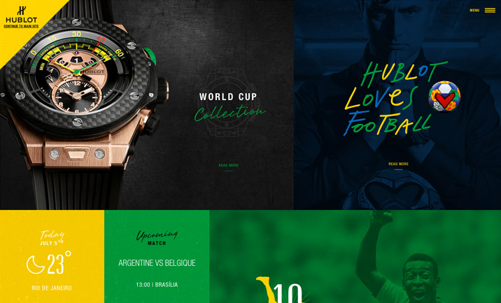 Hublot Loves Football website