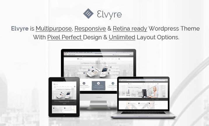 Elvyre WP Theme website