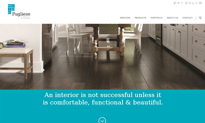 Pugliese Interiors website