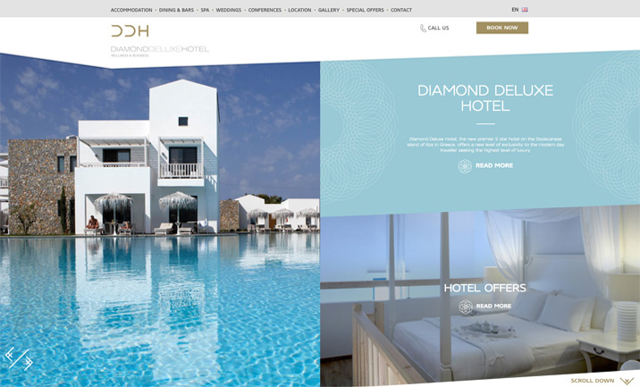 Diamond Deluxe Hotel website