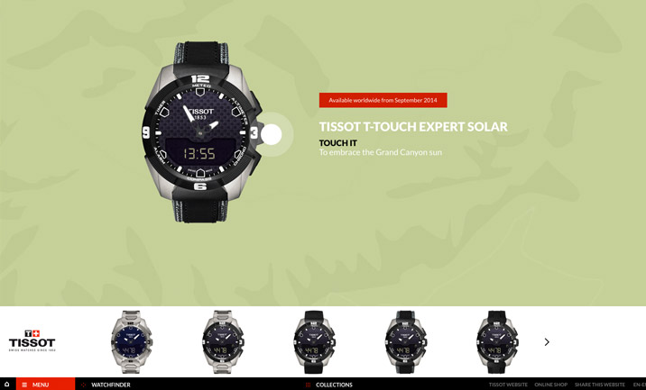 Tissot T-Touch Tactile Watch website