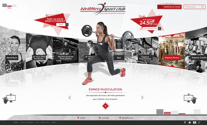 Wellness Sport Club website