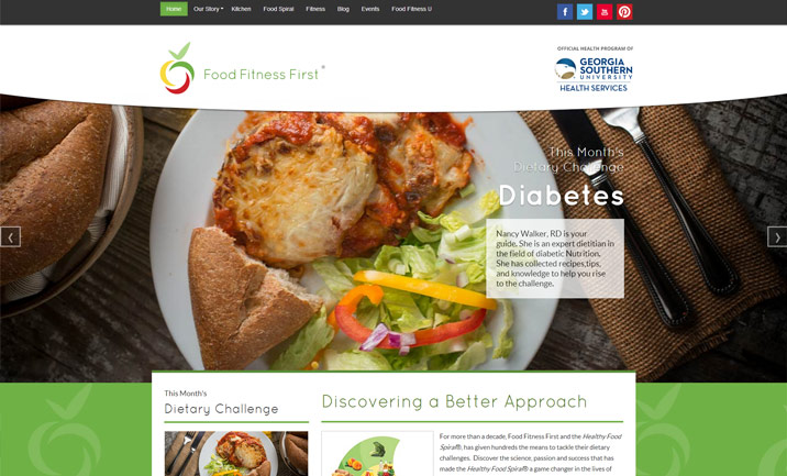 Food Fitness First website