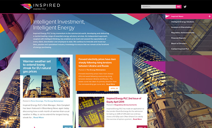 Inspired Energy PLC website
