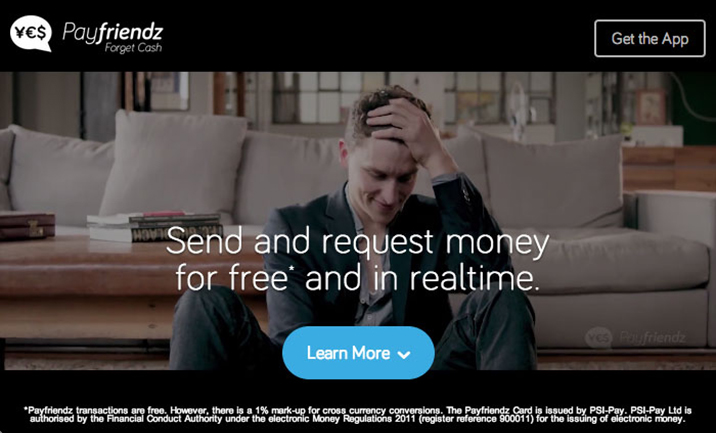 Payfriendz website