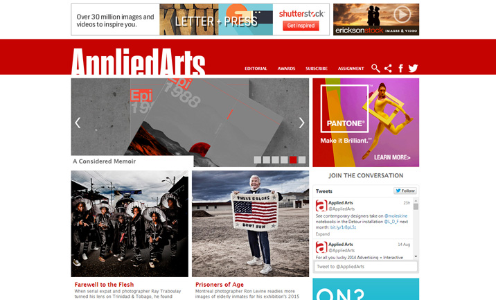 Applied Arts Mag website