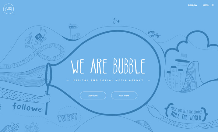 Bubble Agency website