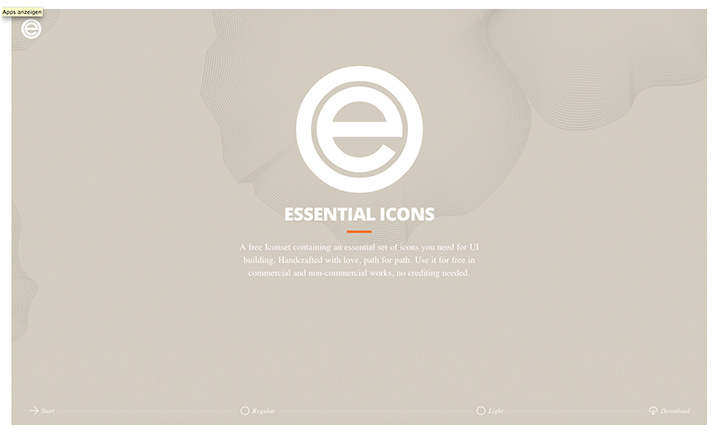 Essential Icons website