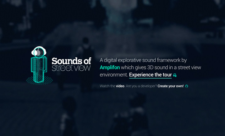 Sounds of Street View website