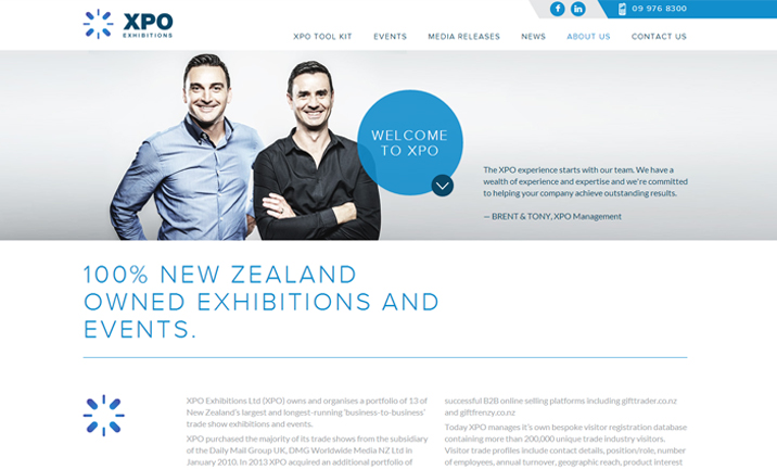 XPO Exhibitions  website