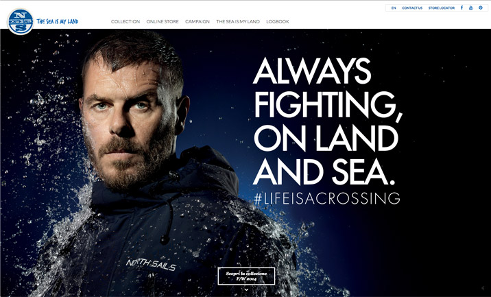 North Sails Sportswear website