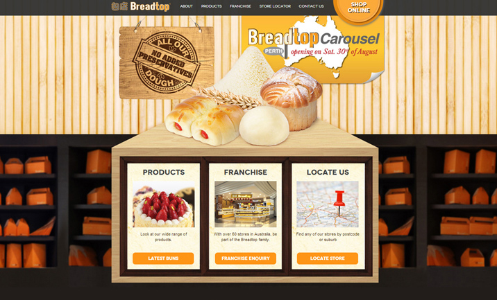 Breadtop Website
