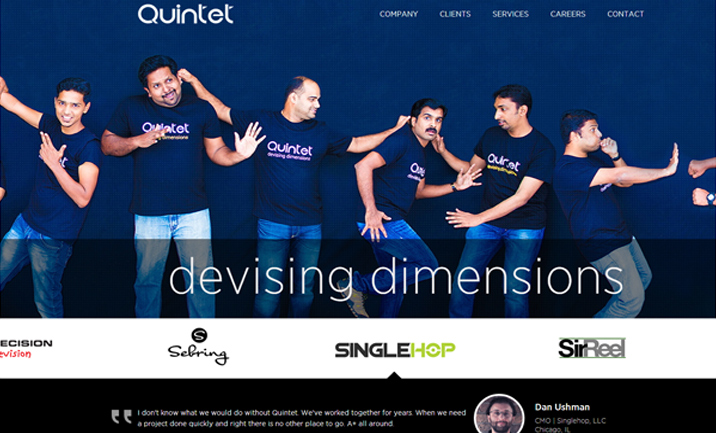 Quintet Solutions website