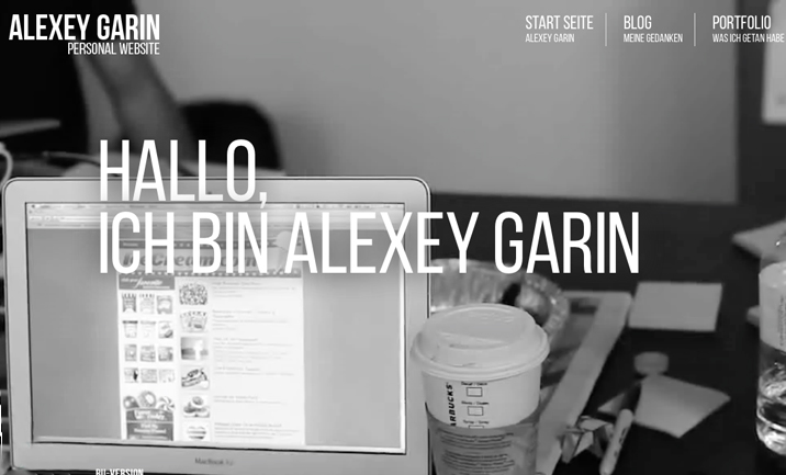 Alexey Garin - Personal Web Site website