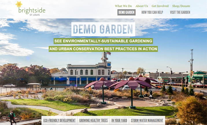 Brightside St. Louis Demo Garden website