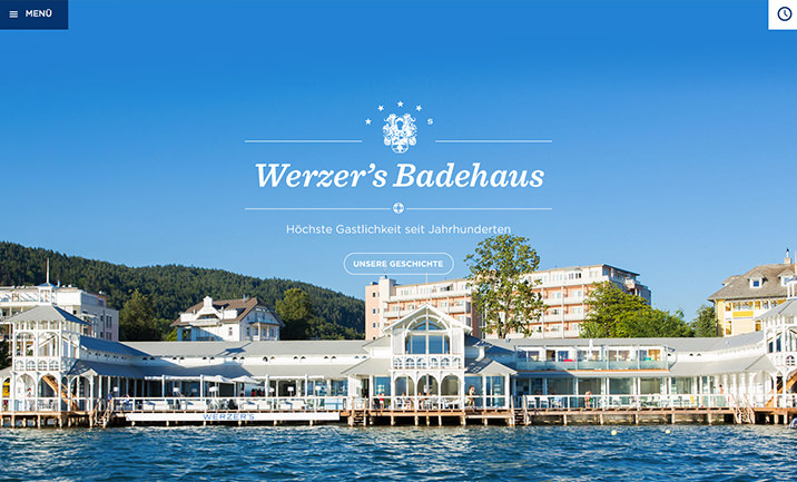 Werzers Badehaus website