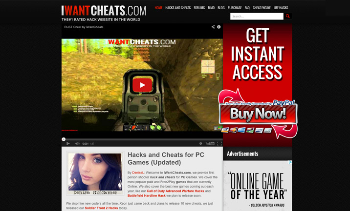 iwantcheats website