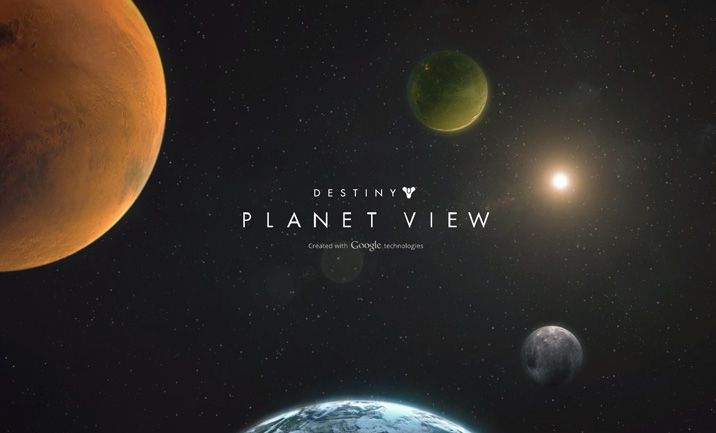 Destiny Planet View website