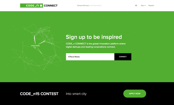CODE_n Connect website