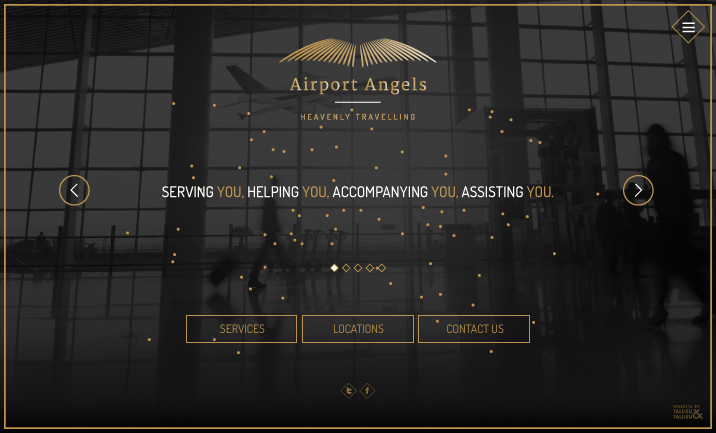 Airport Angels website