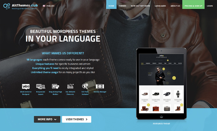 Multilingual WordPress Themes website