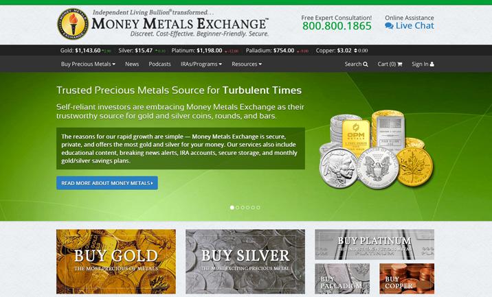 Money Metals Exchange Website