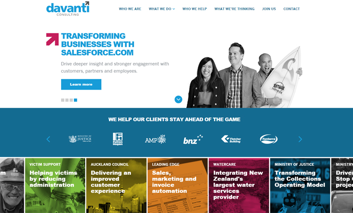 Davanti Consulting website