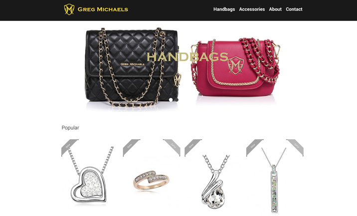 Greg Michaels Purses & Jewelry website