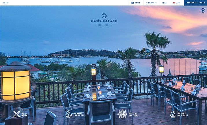 Boathouse Food & Marina website