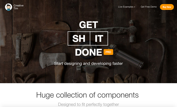 Get Shit Done Pro, Bootstrap Kit website