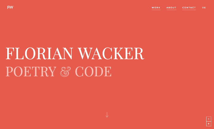 Florian Wacker. Poetry & Code. website