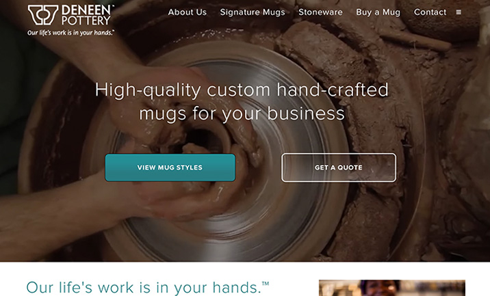 Deneen Pottery website